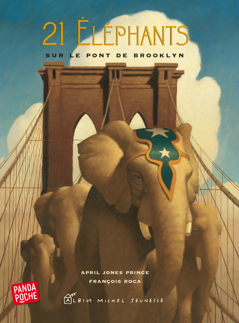 """21 Éléphants sur le pont de Brooklyn"", d'April Jones Prince"