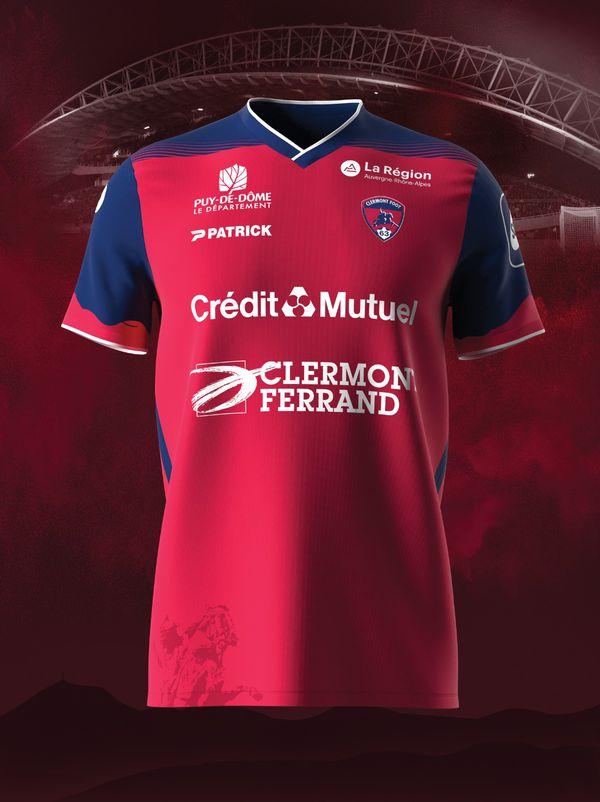 Le maillot domicile de Clermont pour la saison 2021-2022