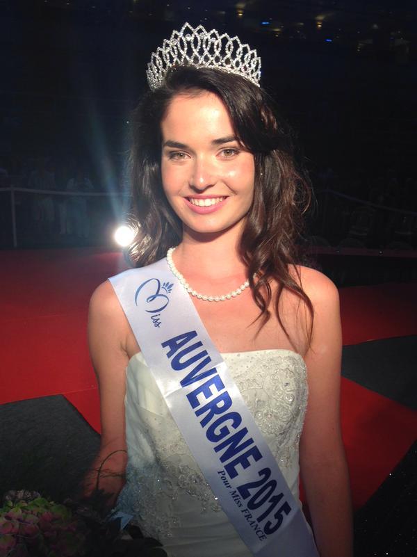 Pauline Bazoge, jeune étudiante de 18 ans, est Miss Auvergne
