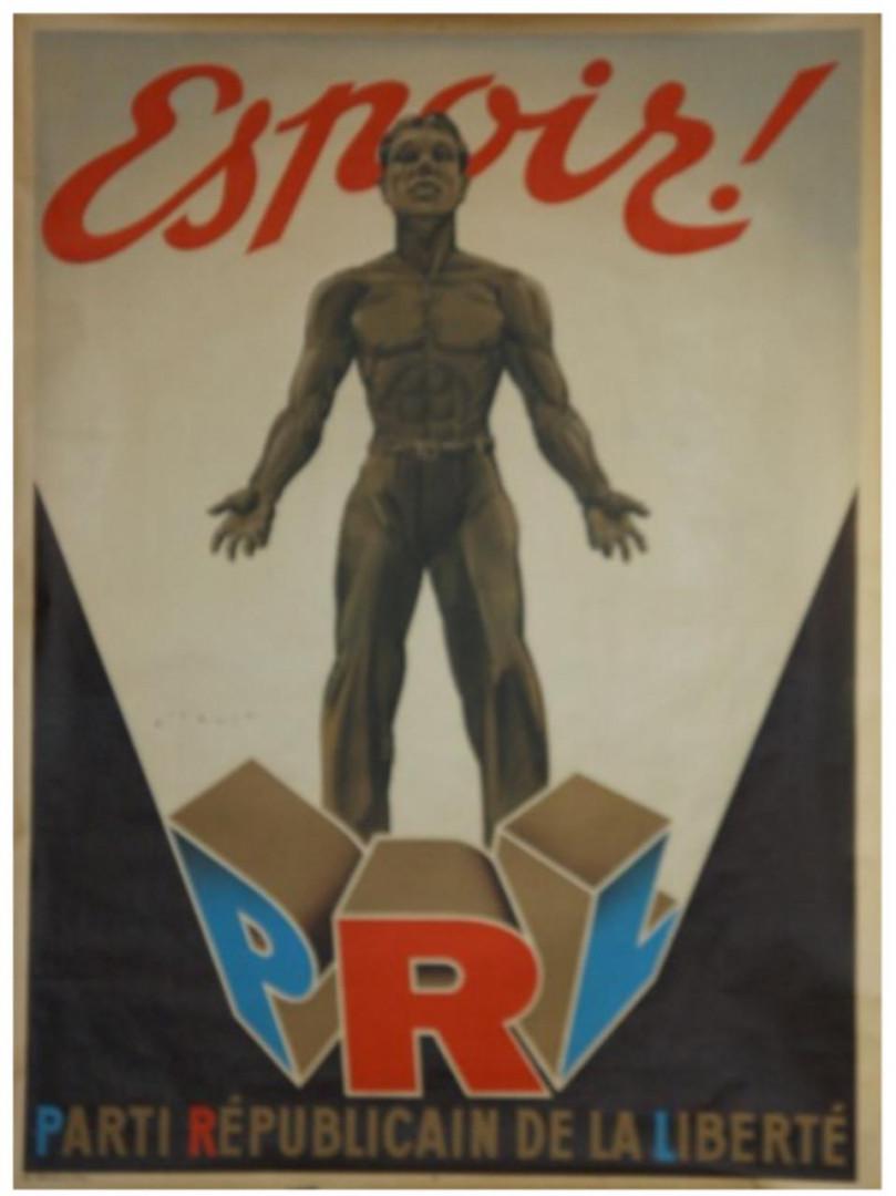 L'affiche du Parti Républicain de la Liberté, 1946