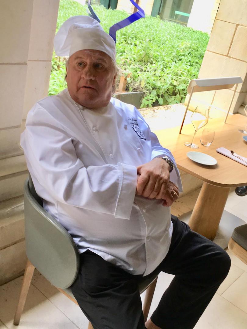 """Gérard Depardieu sur le tournage du film """"Umami"""""""