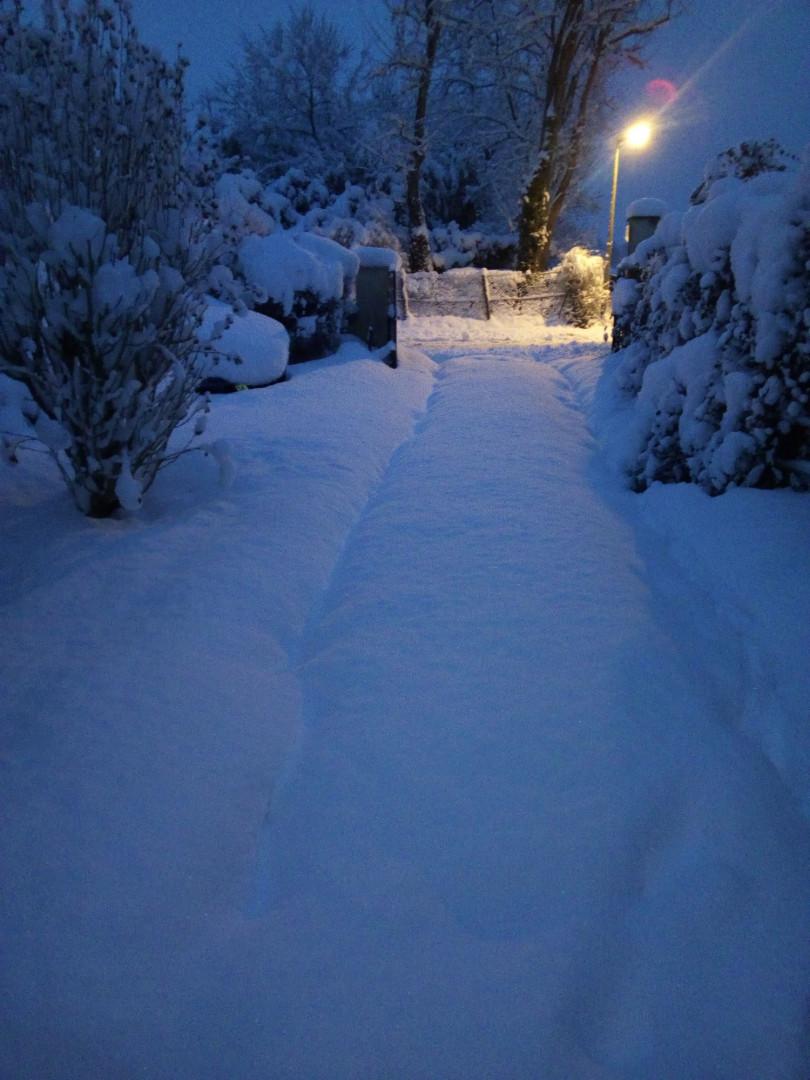 La neige à Naveil (Loir-et-Cher) mercredi 7 février