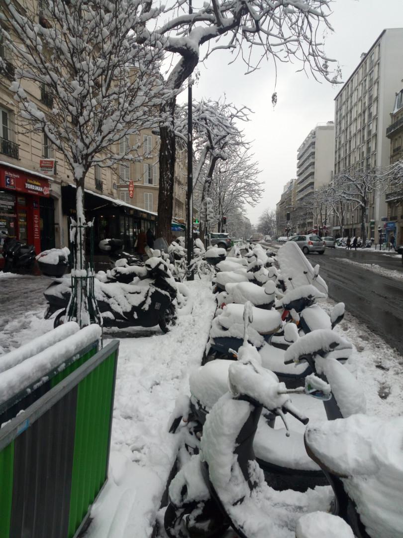 La neige à Paris mercredi 7 février 2018