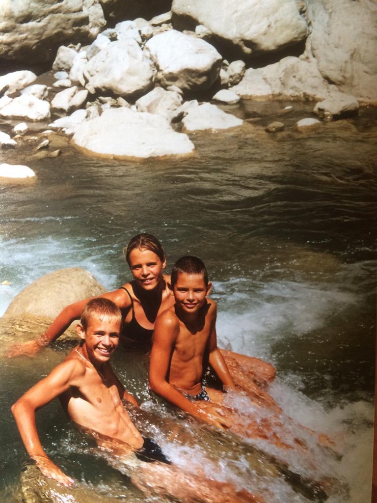 Nicolas, Laure et Florent Manaudou enfants