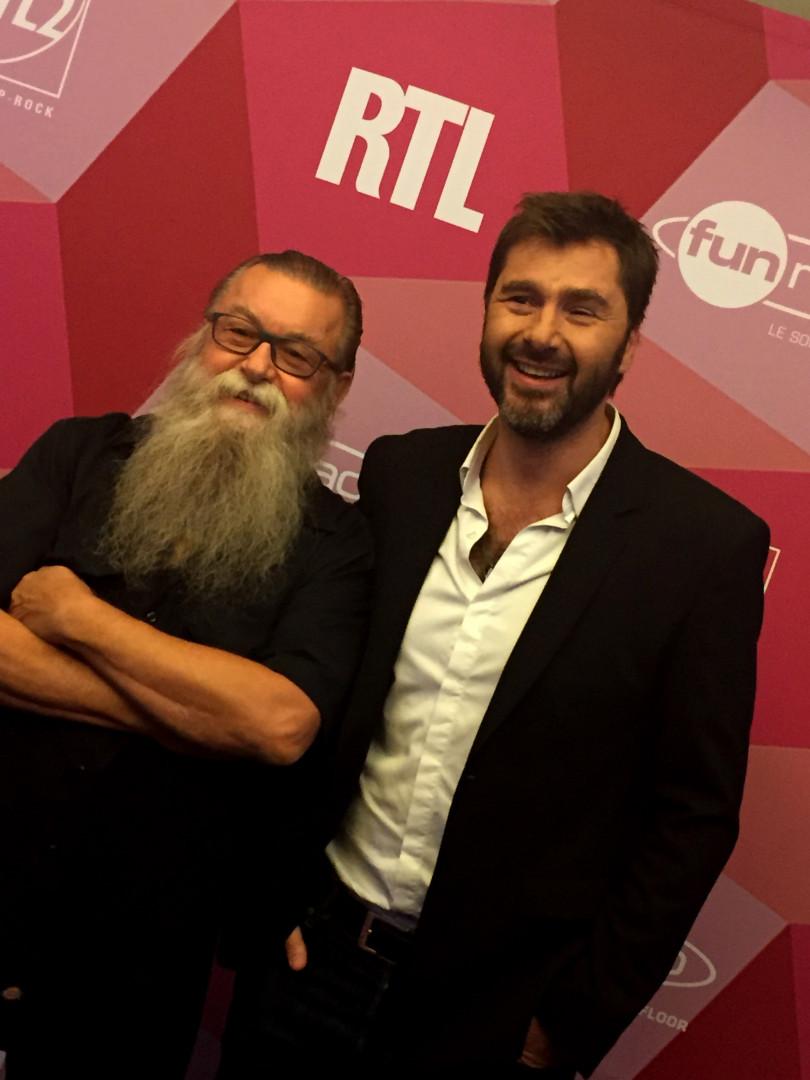 Francis Zégut et Eric Jean Jean lors de la conférence de rentrée de RTL2