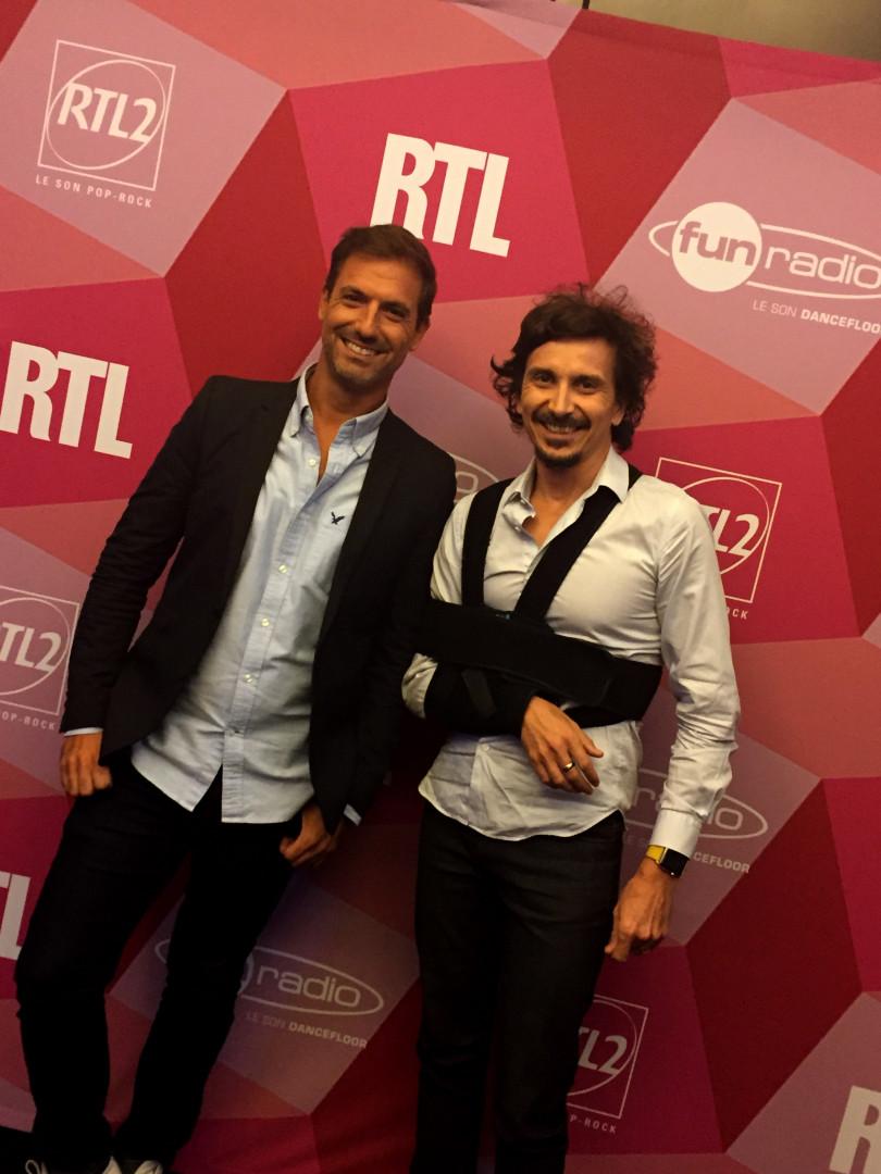Grégory Ascher et Arnaud Tsamere lors de la conférence de rentrée de RTL2