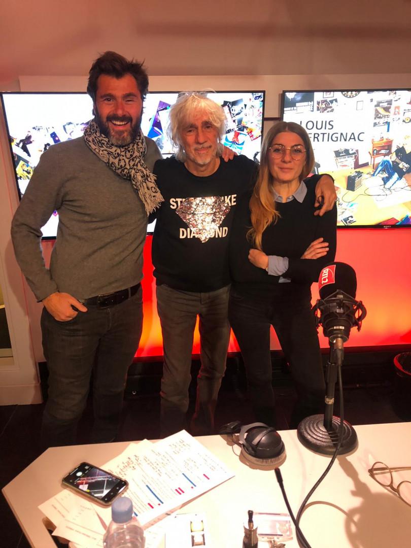 Louis Bertignac en compagnie d'Eric Jean Jean et de Mathilde Courjeau du #DriveRTL2