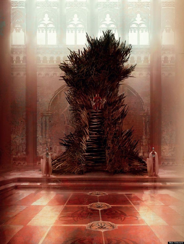 Le trône de Fer dessiné par Marc Simonetti