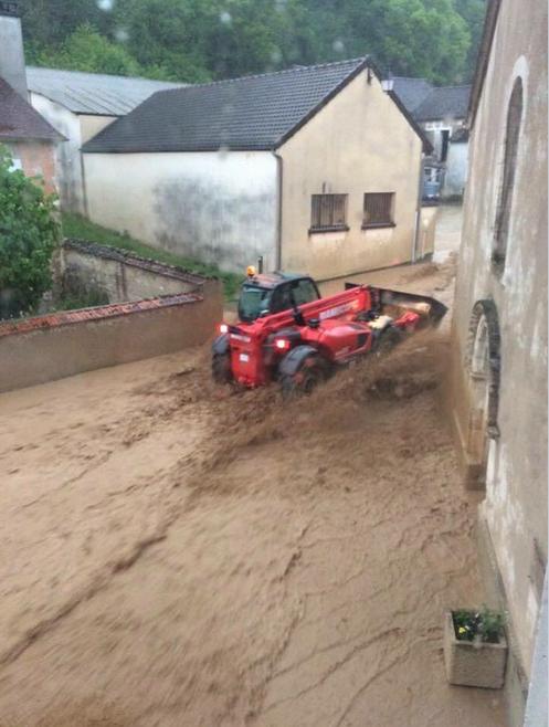 À Fontenay (Yonne), il est tombé près de 50 mm d'eau le 31 mai