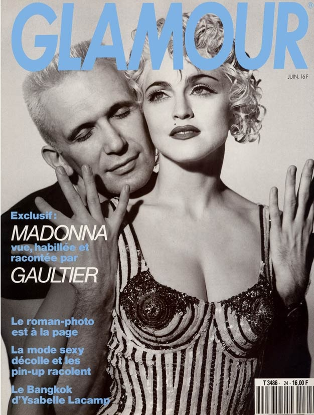 """Madonna et Jean-Paul Gaultier pour """"Glamour"""" en 1990"""
