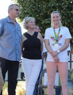 Amandine avec ses parents
