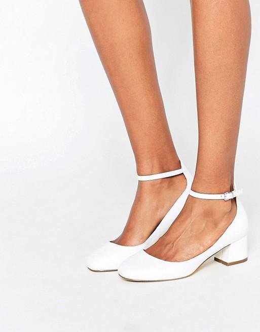 Chaussures blanches à talons mi-hautes - Miss KG (79,99€)