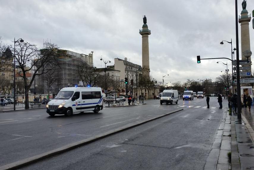 Le quartier de la Porte de Vincennes est fermé à la circulation