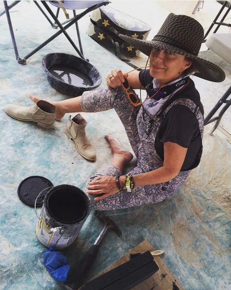 L'actrice Susan Sarandon était aussi dans le désert cette année