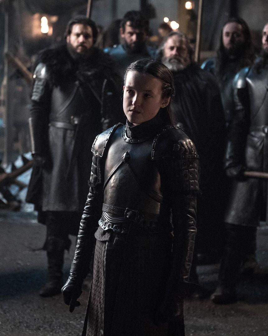 La jeune Lyanna Mormont bien dans ses bottes et prête pour la bataille