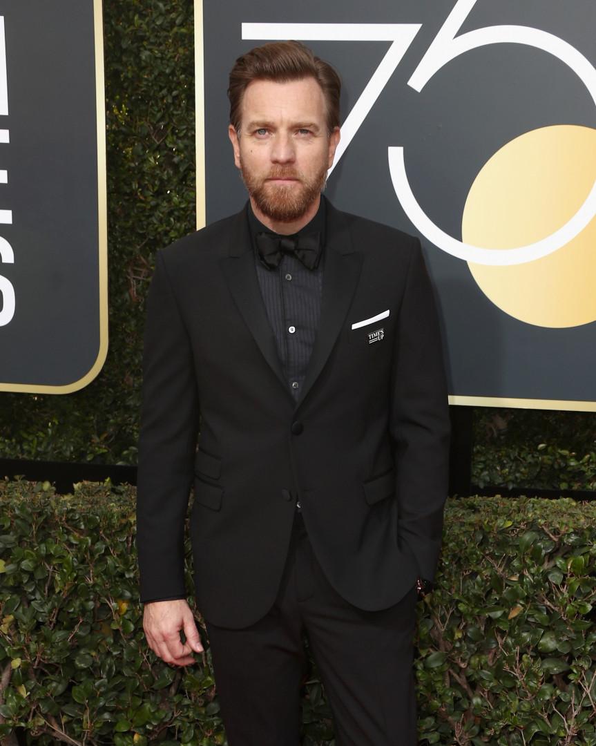 L'acteur Ewan McGregor aux Golden Globes 2018