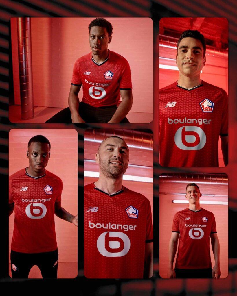 Le maillot domicile de Lille pour la saison 2021-2022