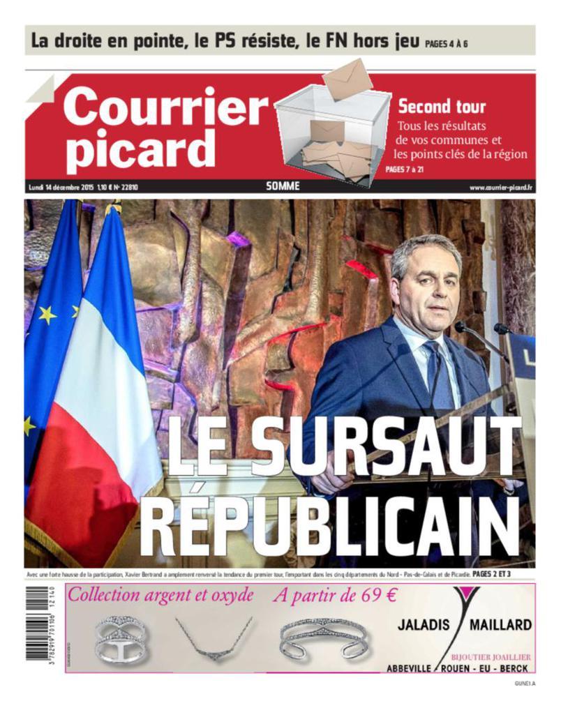"""Le """"sursaut républicain"""" pour le Courrier Picard"""