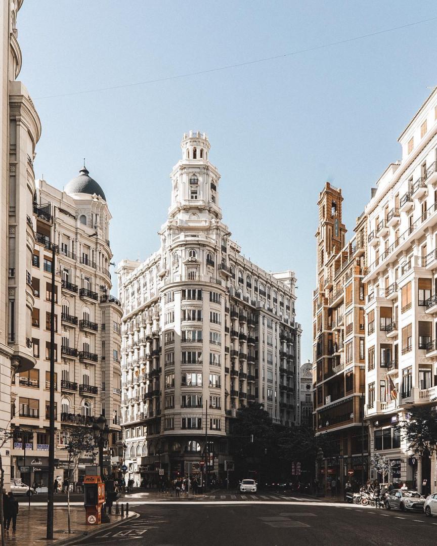 En Espagne, Valence et son joli coeur de ville.