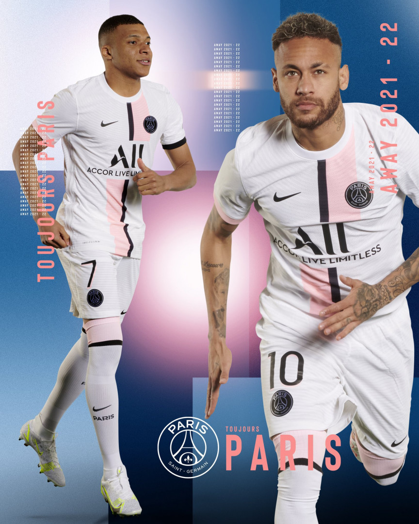 Le maillot extérieur du PSG pour la saison 2021-2022