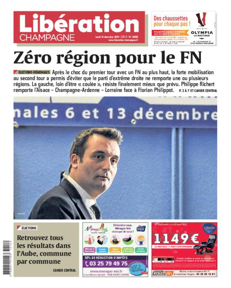Libération Champagne rappelle le score du Front national