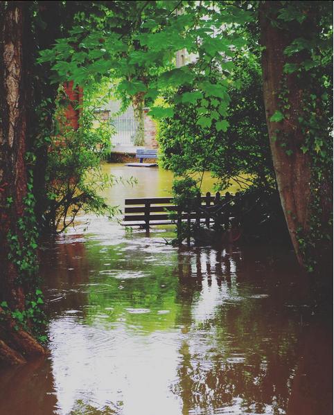L'eau reprend ses droits à Villeneuve sur Yonne (Yonne)
