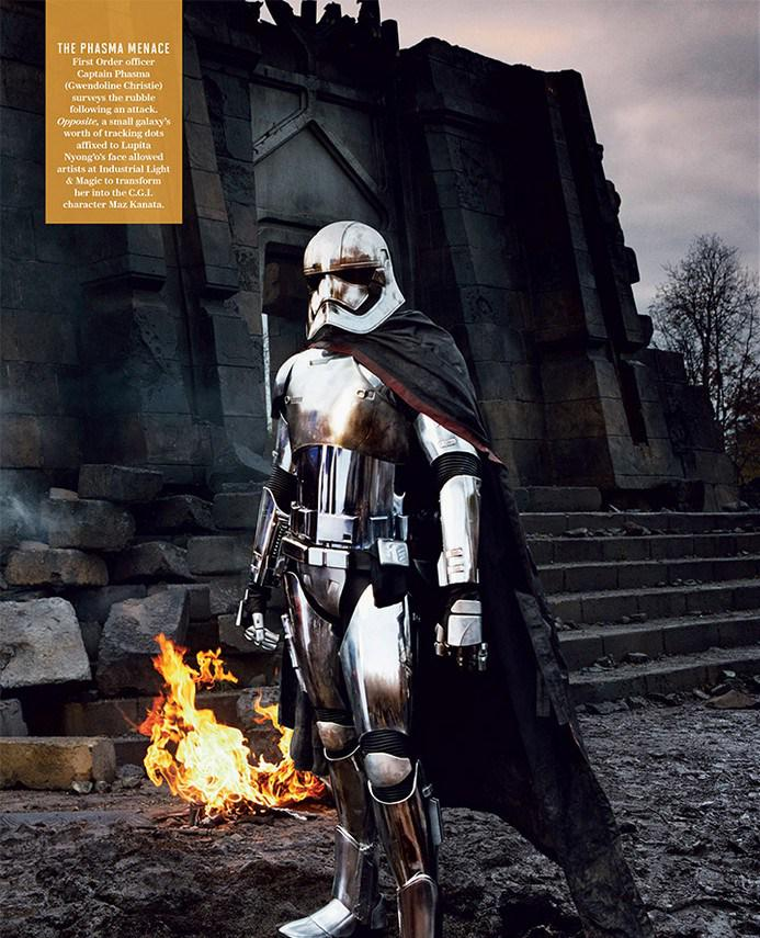 """Gwendoline Christie incarne Captain Phasma dans """"Star Wars : Le Réveil de la Force"""""""