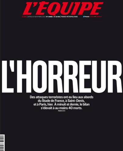 """La Une de """"L'Équipe"""""""