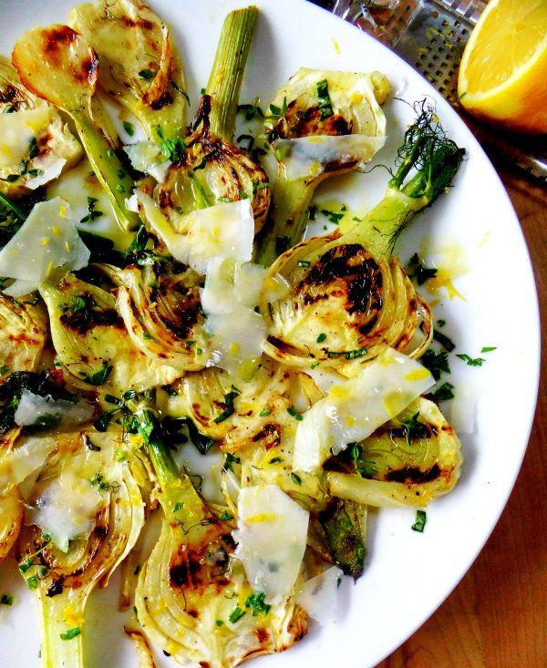 Salade de fenouils grillés et parmesan