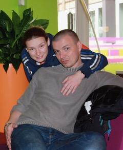 Amandine avec son frère Sylvain, de quatre ans son aîné