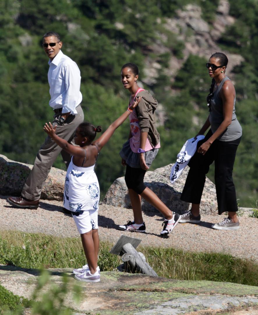 Barack Obama est un amoureux des parcs naturels américains. Sasha aussi, semble-t-il.