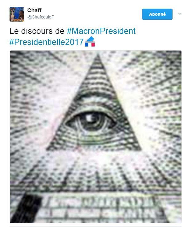 Ou encore chez cet internaute qui ne met même plus l'image du président élu