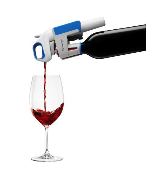 Système de vin au verre Coravin Model One Blanc et bleu, entre 189,99 et 199,99 euros