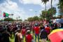 Des manifestants dans les rues de Pointe-à-Pitre, en Guadeloupe