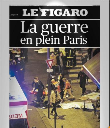 """""""Le Figaro"""" parle de guerre"""