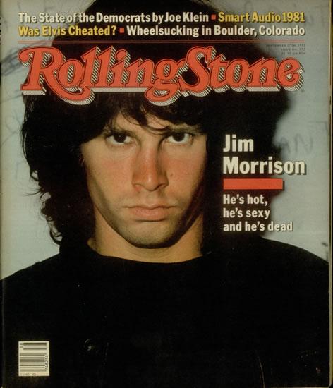 """Jim Morrison en une de """"Rolling Stone"""" en 1982"""
