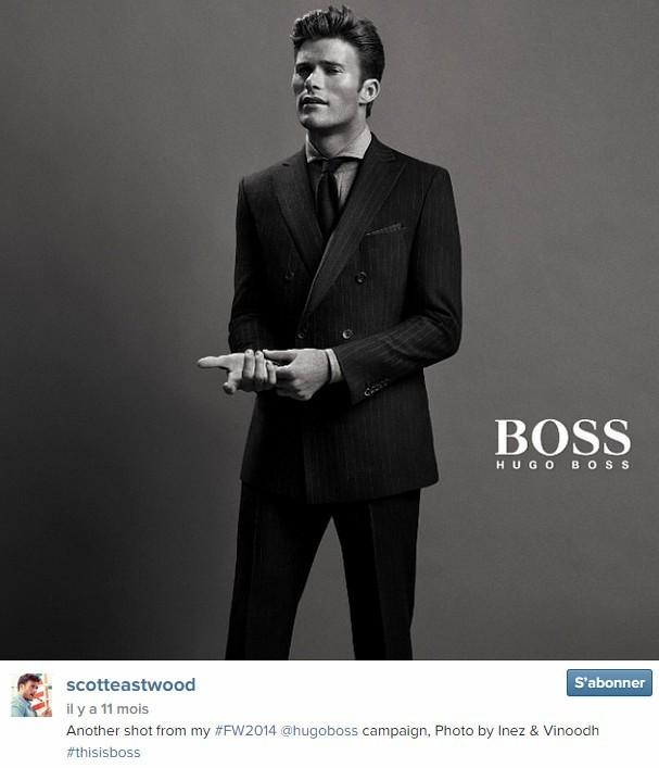 Scott Eastwood, 29 ans, fils de Clint Eastwood, était l'égérie de la marque Hugo Boss pour sa campagne automne/hiver 2014.