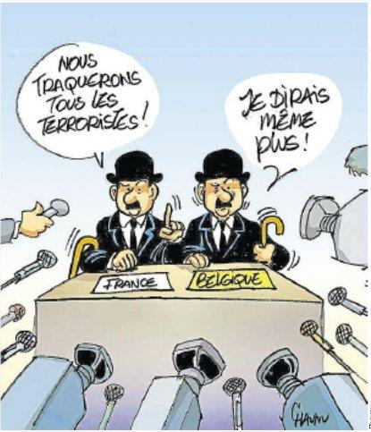 Dupond et Dupont de Tintin, en guerre contre le terrorisme