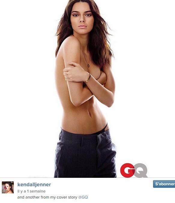 Kendall Jenner, fille de Kris et Bruce Jenner, 19 ans, a posé pour le magazine GQ en avril 2015.