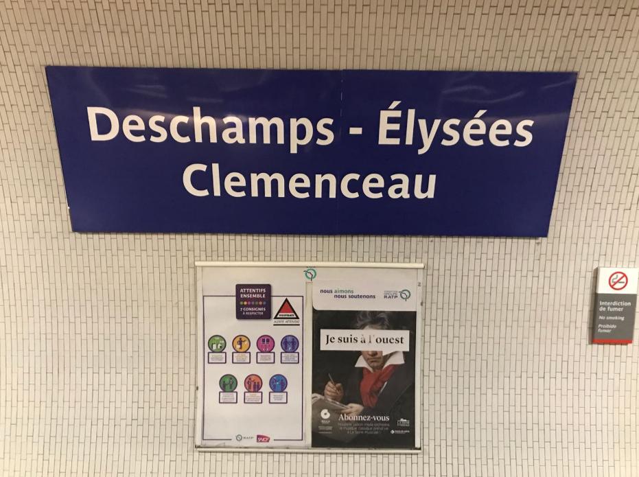 La station Champs-Élysées - Clemenceau