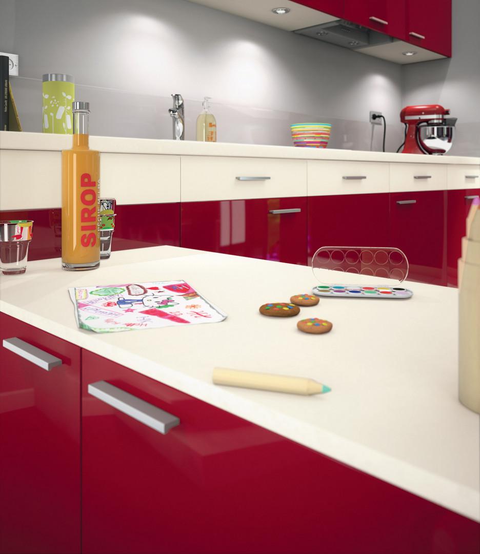N'hésitez pas à mélanger le blanc et le rouge pour moderniser votre cuisine