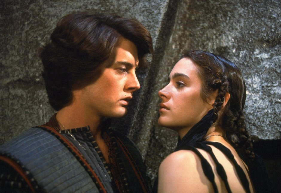 "Kyle MacLachlan et Sean Young, les deux amants Paul Atréides et Chani dans le ""Dune"" de David Lynch (1985)"