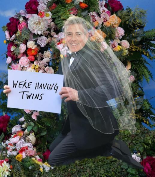 """Ellen DeGeneres a décidé d'aider George et Amal Clooney à partager la bonne nouvelle, """"Beyoncé-style"""""""
