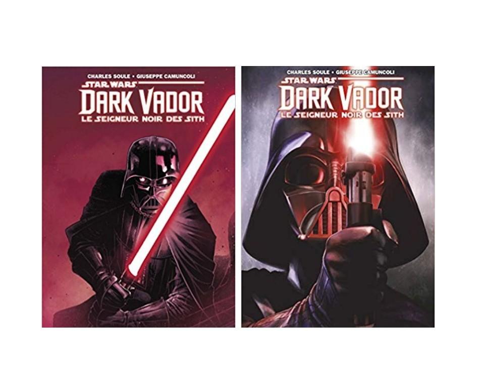 """Les tomes 1 et 2 de """"Dark Vador : Le Seigneur noir des Sith"""" (16 euros l'un)"""