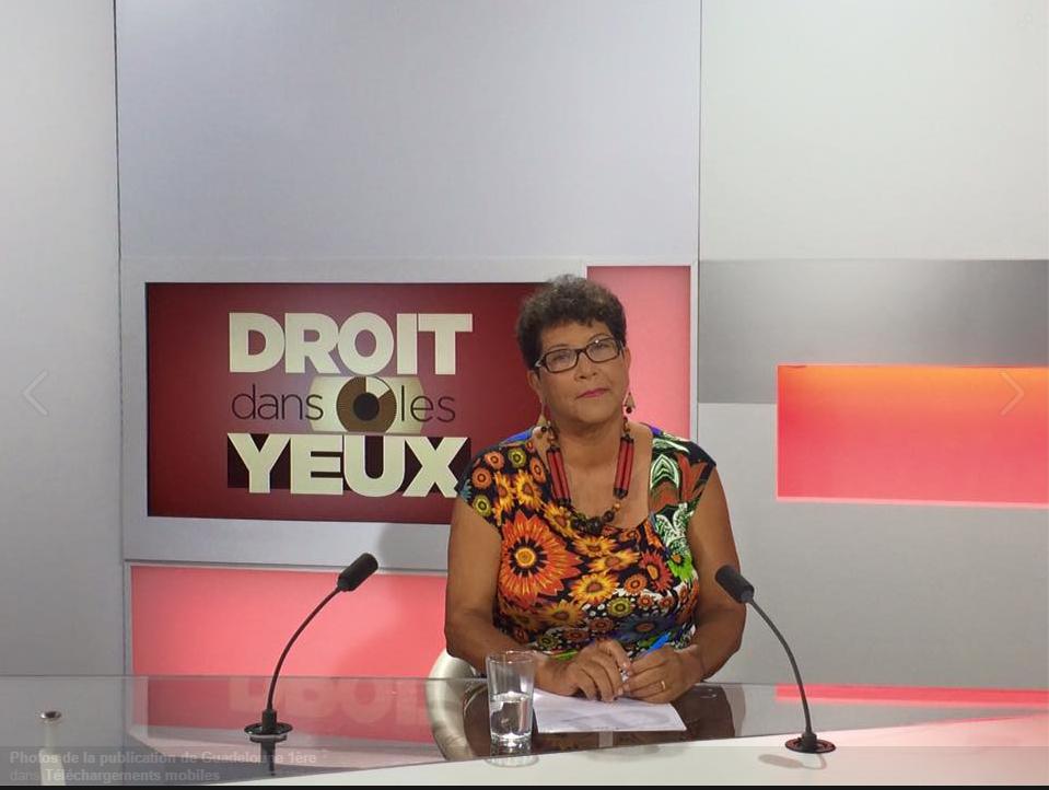 Mona Cadoce, tête de liste du Parti communiste guadeloupéen aux élections régionales 2015.