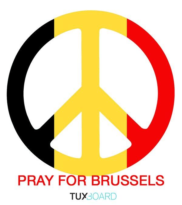 """À l'image d'un """"Pray For Paris"""", un """"Pray For Brussels"""" a été créé"""