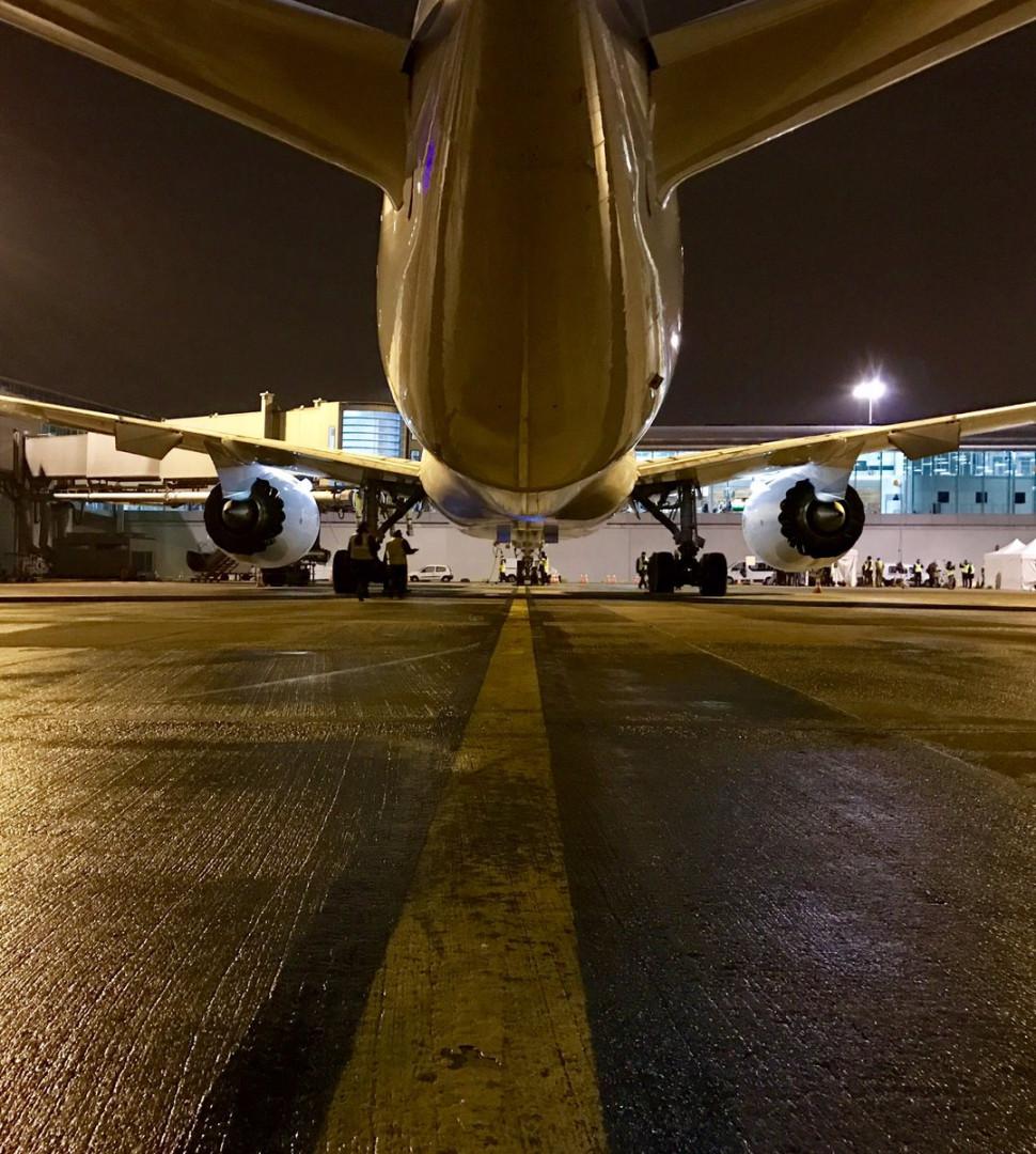 Sous les ailes du Boeing 787