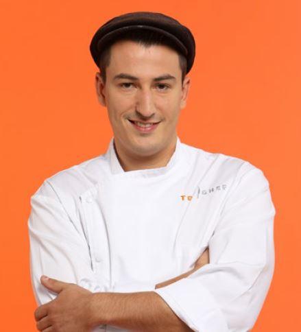 """Jérémie Izarn, 27 ans, chef gérant du restaurant gastronomique """"La tour des sens"""", Tencin (38)"""