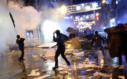 Des manifestants à Istanbul en Turquie, le 27 décembre 2013 (illustration).
