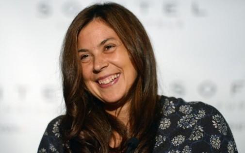 Marion Bartoli lors d'une conférence de presse à New York le 25 août 2013.
